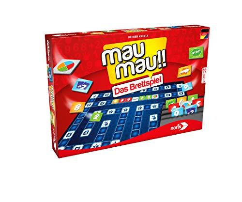 [amazon PRIME] Noris Spiele Mau Mau, das Brettspiel (2-4 Spieler ab 8 Jahren, Gesellschaftsspiel/Kinderspiel, 606101817)
