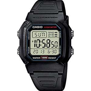 Uhr: Casio w-800h-1Aves 100M Wasserdicht. Amazon Prime