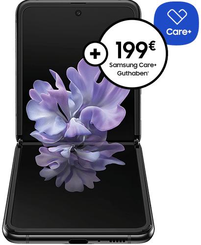 Samsung Galaxy Z Flip 256GB im O2 Free L 60GB LTE für 4,95€ einmalig, 39,99€ mtl., 13,76€ mtl. nach Ankauf; Free L Boost O2 Connect möglich
