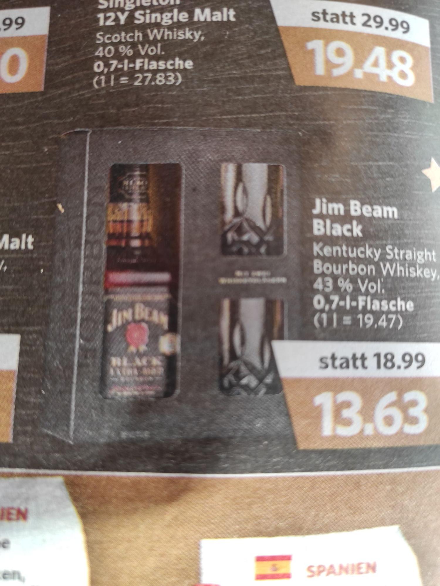Jim Beam Black Extra Aged inkl. 2 Gläser -Lokal-