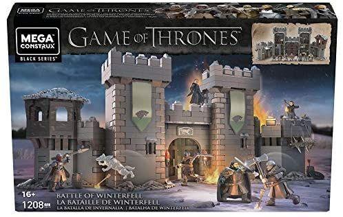 Mega Construx GMN75 - Probuilder Game of Thrones Die Schlacht um Winterfell, enthält 6 originalgetreue Mikro-Actionfiguren [Amazon]