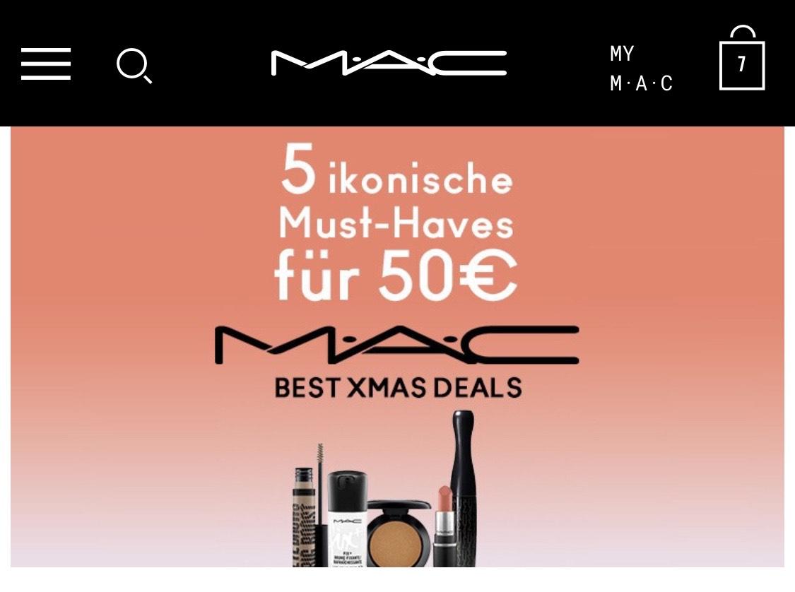 MAC cosmetics 5 Produkte für 50€