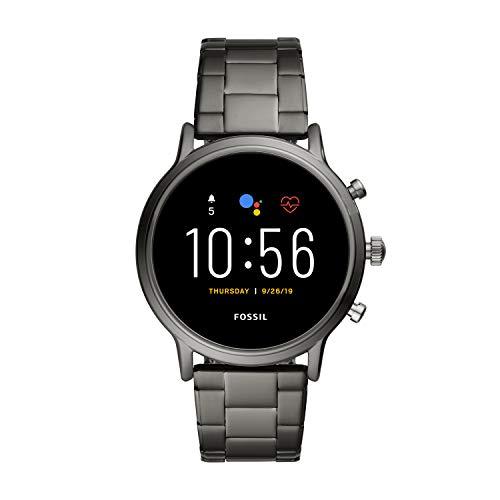 [Amazon] Fossil Herren Smartwatch 5. Gen., Carlyle HR mit Gliederarmband grau (FTW4024P)