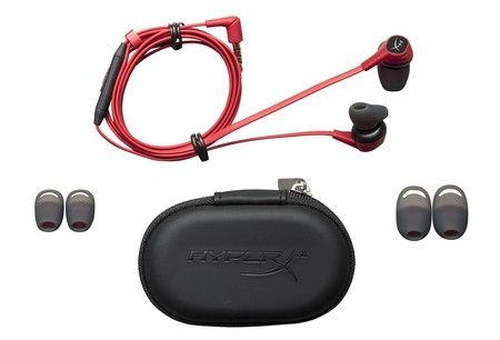 HyperX Cloud Earbuds rot In-Ear Kopfhörer (Ideal für Nintendo Switch™, In-line-Mikrofon mit Multifunktionstaste)