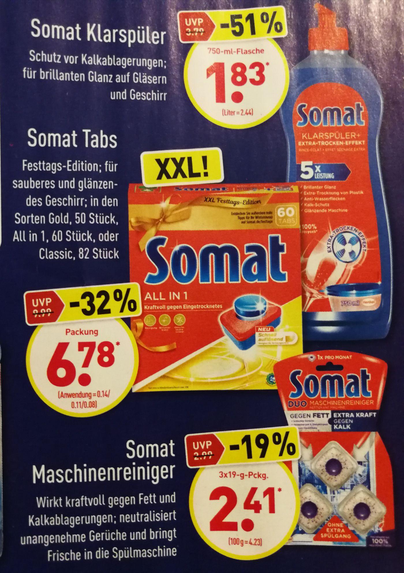 Somat Tabs Klarspüler Reiniger ALDI Nord Rabatt Aktion