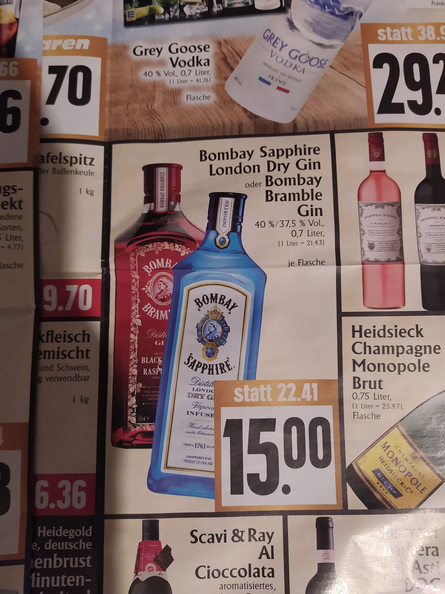 Bombay Saphire oder Bramble Gin