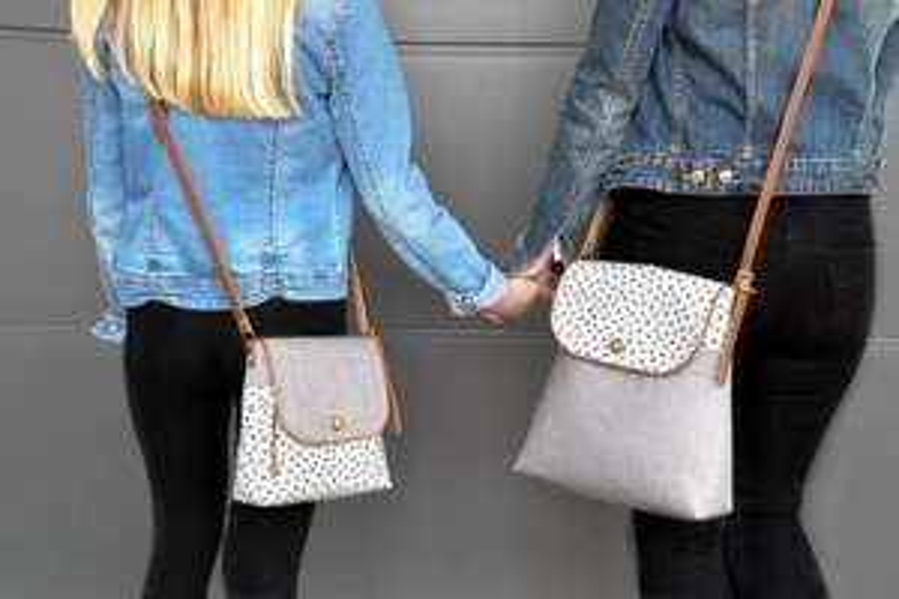 """Kostenloses Schnittmuster für die Damenhandtasche """"Abendliebe"""" in zwei verschiedenen Größen"""