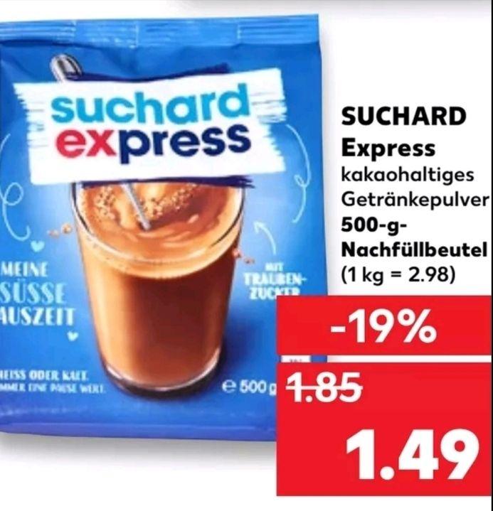 [Kaufland Mo-Sa] Suchard Express Kakaopulver 500g Beutel mit Scoondo Cashback für effektiv 0,99€