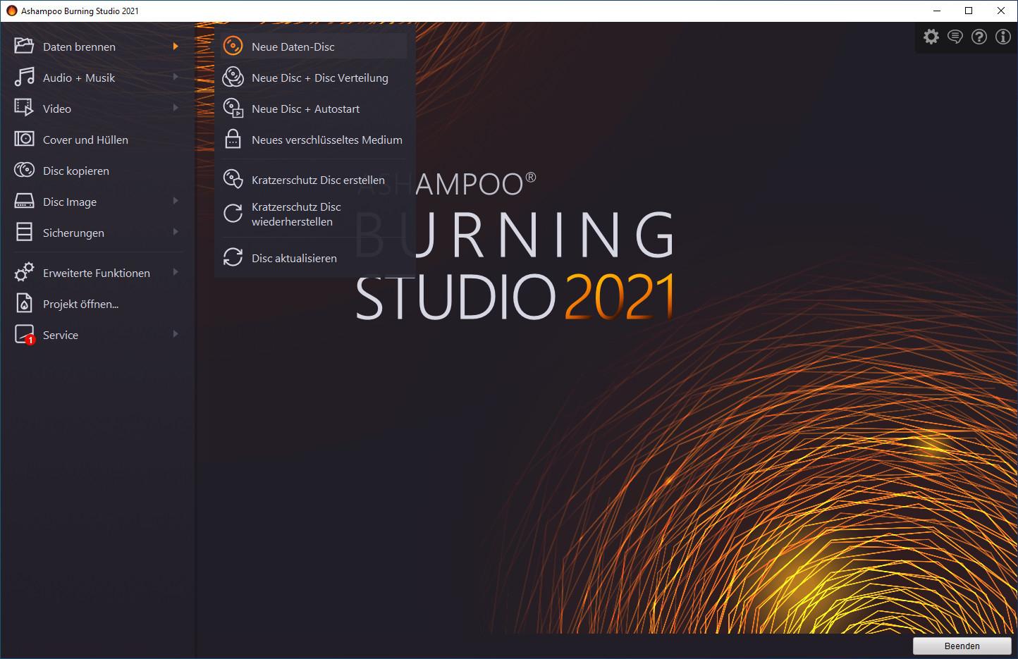 Ashampoo Burning Studio 2021 – Kostenlose Vollversion