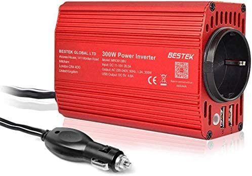 BESTEK Power Inverter 12 V 230 V / 300 W Inverter