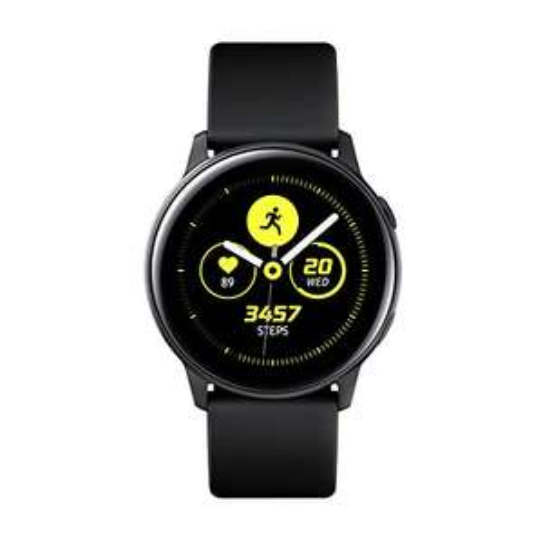 "Samsung Galaxy Watch Active R500 schwarz (1.1"" OLED, 4GB/768MB, Alu-Gehäuse, NFC, Tizen OS)"