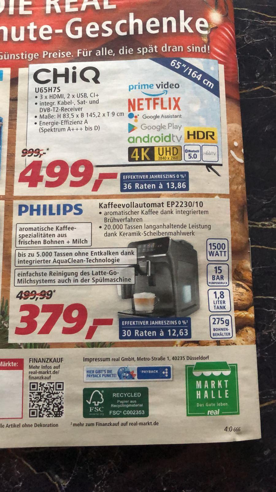 Philips EP 2230/10 Kaffeevollautomat (Lokal) Realmärkte