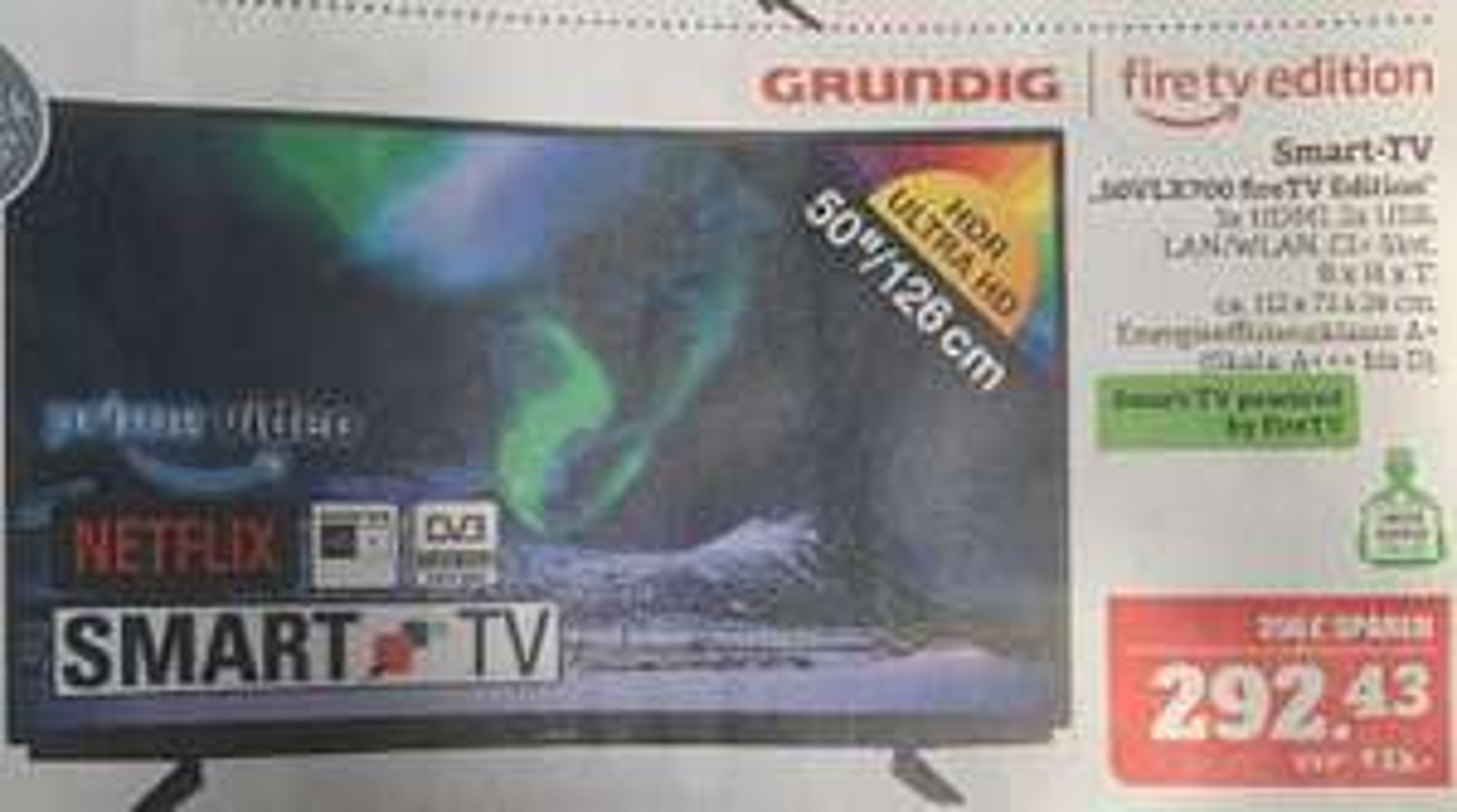 [Marktkauf] 50 Zoll UHD Grundig 50VLX700 Fire TV Edition