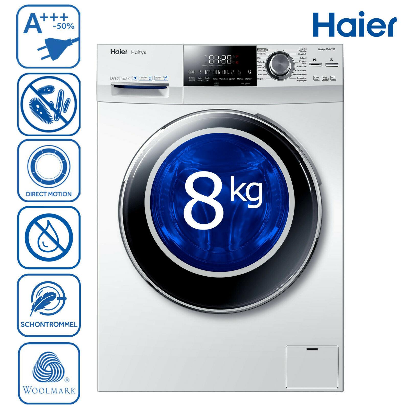Haier HW80-BD14756 Waschmaschine Frontlader A+++ -50%