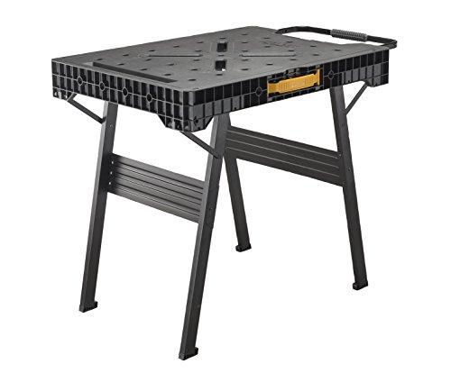 Stanley FatMax klappbare Werkbank (bis 455kg belastbar, mit Metallbeinen für höchste Stabilität, große Arbeitsfläche)