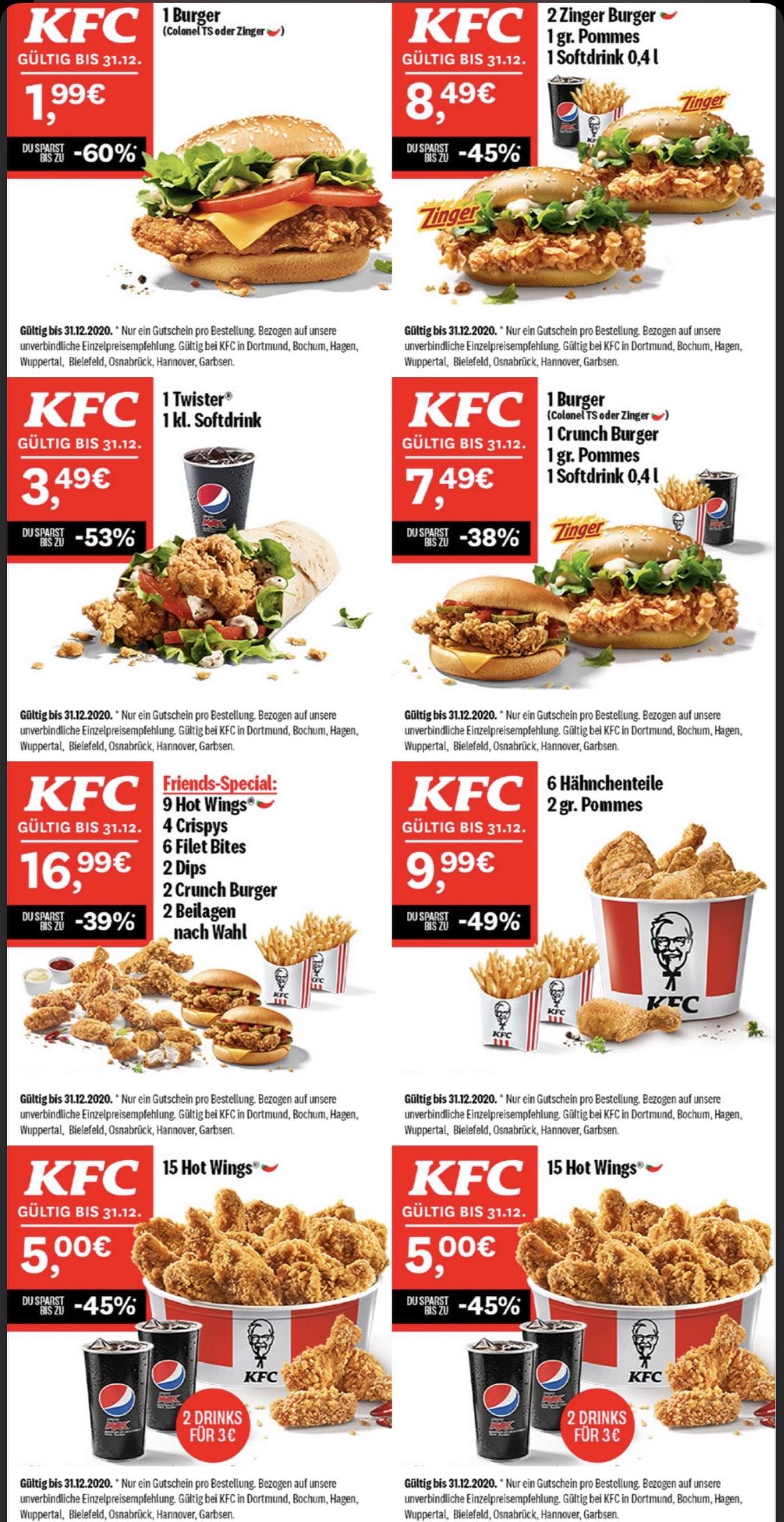 [Lokal] KFC Gutscheine