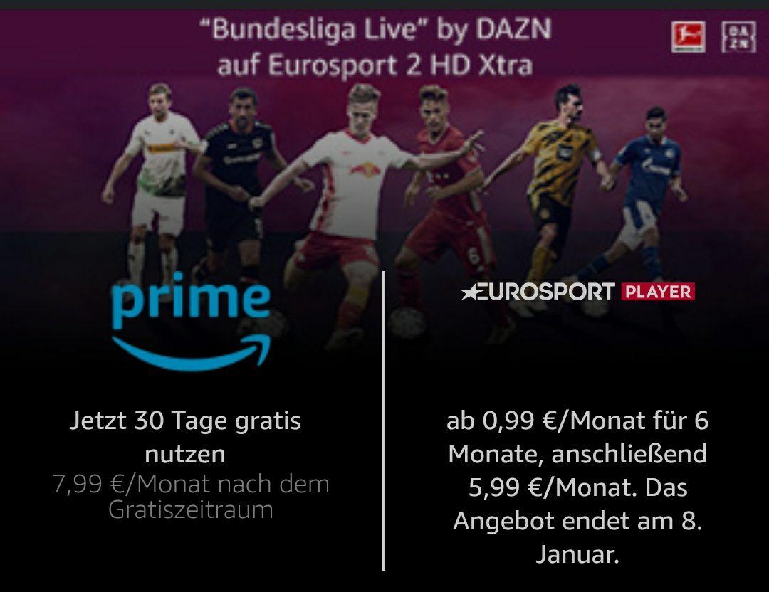 Bundesliga Live by DAZN auf Eurosport 2 HD Xtra für 0,99€/ Monat
