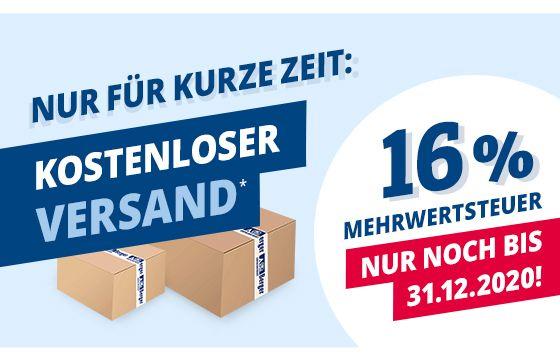 Kostenloser Versand ab 25 Euro bei Camping Fritz-Berger