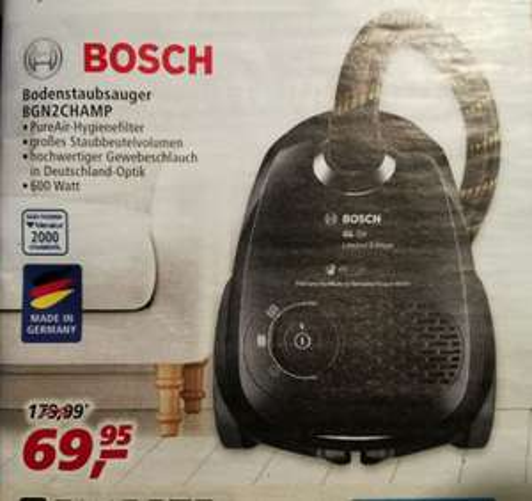 Bosch Staubsauger BGN2CHAMP (Markthalle /Lokal?)