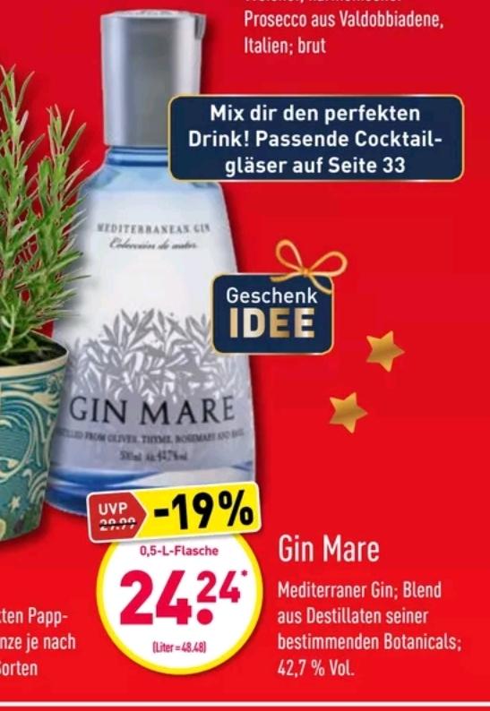 [Aldi Nord] Gin Mare 0,5l 42,7% Vol.