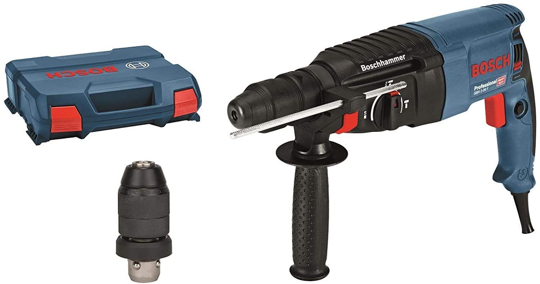 Bosch Professional Bohrhammer GBH 2-26 F (830 Watt, 2,7 J Schlagenergie, inkl. Wechselfutter SDS-Plus, Zusatzhandgriff & Handwerker-koffer)