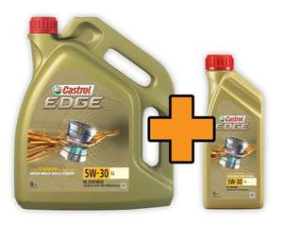 Castrol Motoröl Edge Titanium 5W-30 LL Aktion 5 l + 1 l