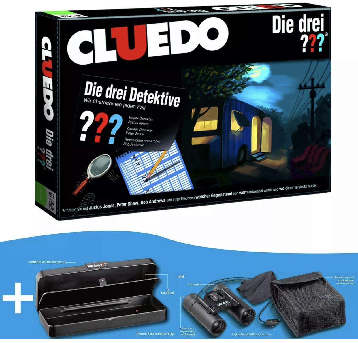 Cluedo: Die drei ??? - Bundle mit Detektiv-Fernglas und Geheim-Box (Fragezeichen) [eBay]