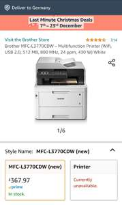Brother MFC-L3770CDW *amazon.co.uk