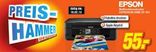 Epson - Multifunktionsdrucker XP-302 für 55€ als Preishammer des Tages im expert Technikmarkt