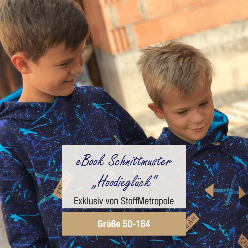 [GRATIS Schnittmuster] StoffMetropole kostenloses Schnittmuster E-Book Hoodie Pullover Gr. 50 - 164