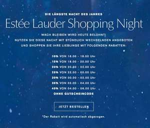Estée Lauder Shopping Night bis zu 40% Rabatt
