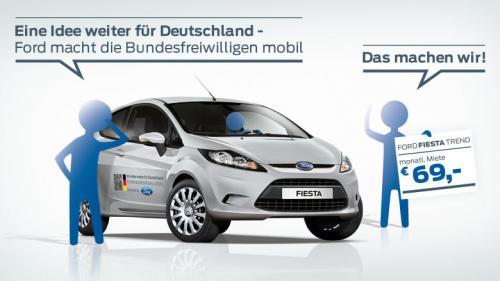 Ford Fiesta für Bufdis für 69 Euro im Monat mieten - Laufzeit 4,6,9,12,18 Monate
