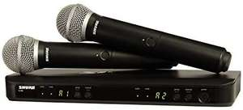Shure BLX288E/PG58 T11 2-Kanal-Funksystem mit 2 dynamischen PG58 Gesangsmikrofonen