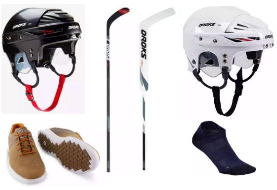 Kleine Decathlon-Übersicht zB.: Eishockey-Helm IH 500 Kinder