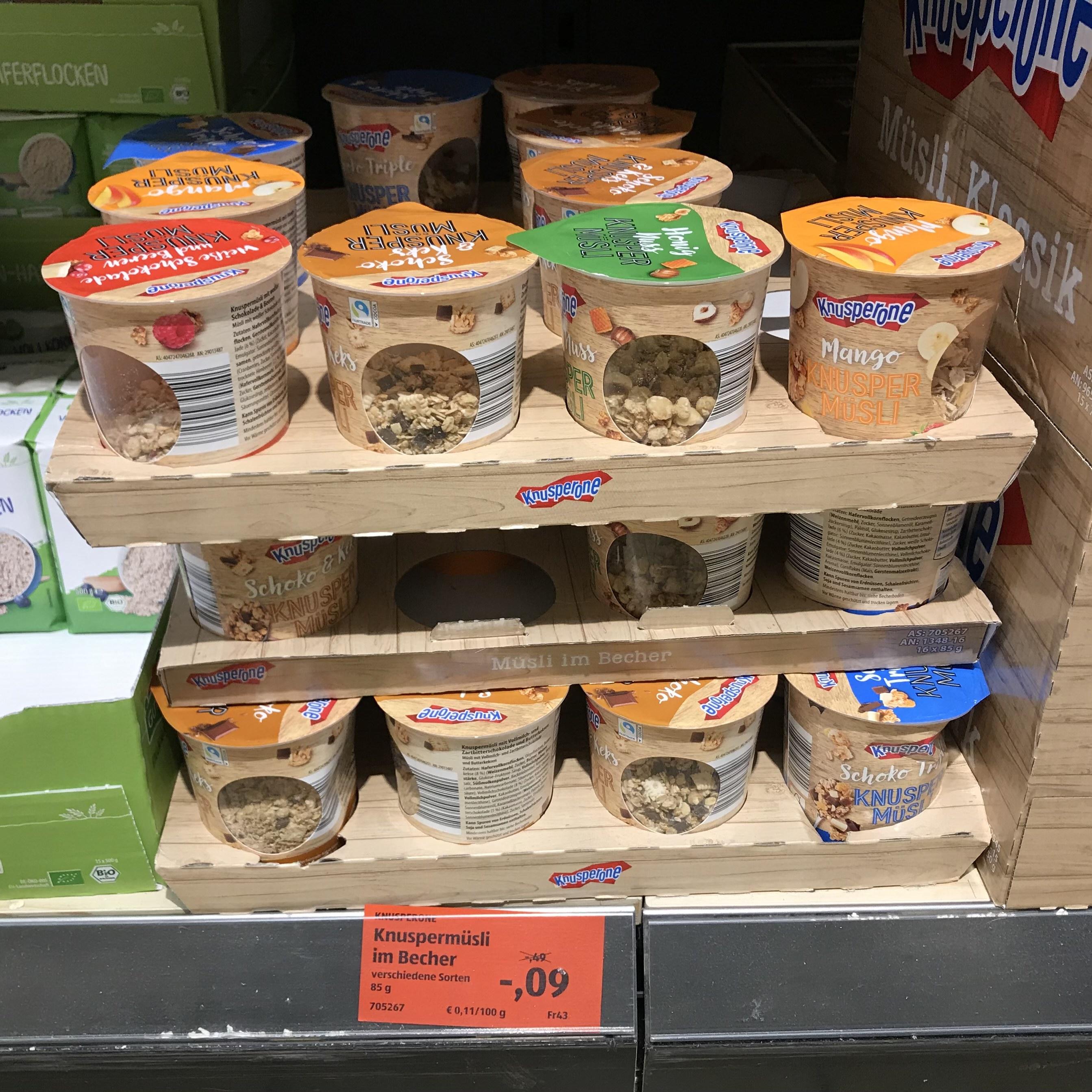 [Lokal Heidelberg] Knusperone Knuspermüsli im Becher für 9 Cent