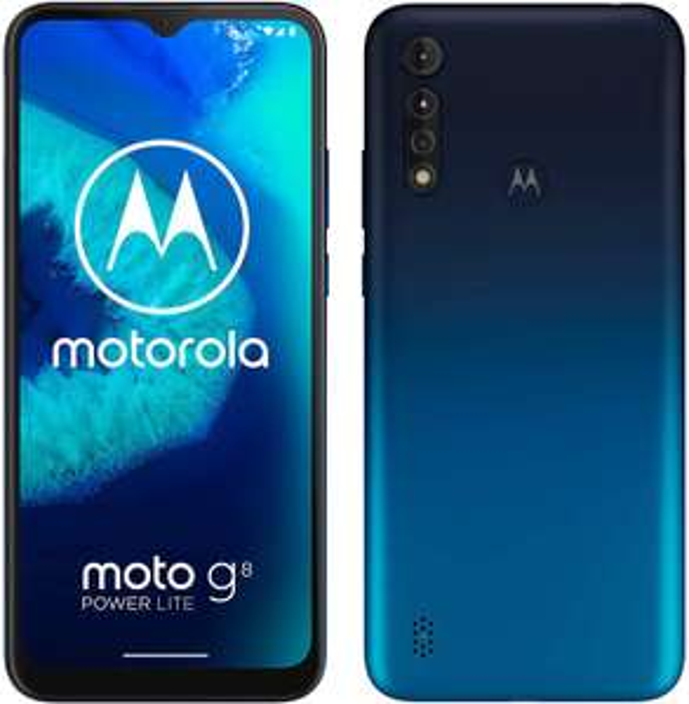 "Motorola Moto G8 Power Lite 6,5"" HD+ Dual-SIM Smartphone 4/64GB (5.000 mAh, Helio P35, 16 MP Triple-Cam, IPS)"