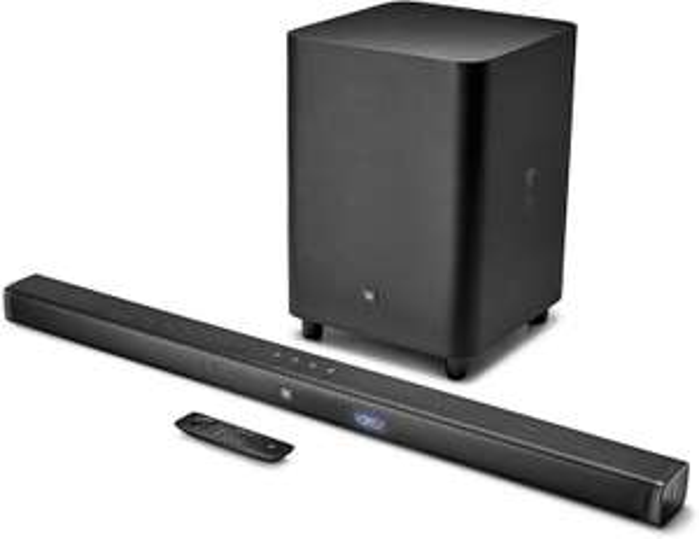 JBL Bar 3.1 - Soundbar mit kabellosem Subwoofer 450 Watt (UHD 4K Passtrough, Dolby Digital, Bluetooth, HDMI ARC, Toslink)
