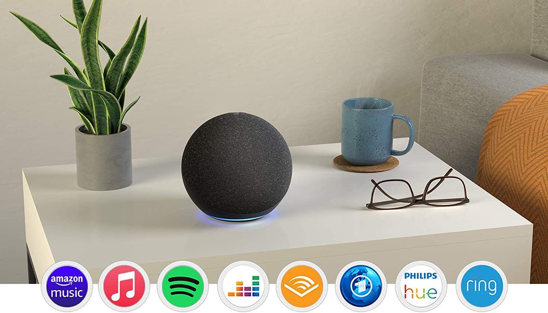 2 Stück Amazon Echo 4 Generation (nicht der kleine Echo Dot,sondern der große mit zigbee hub)+Philips Hue White LED-Lampe