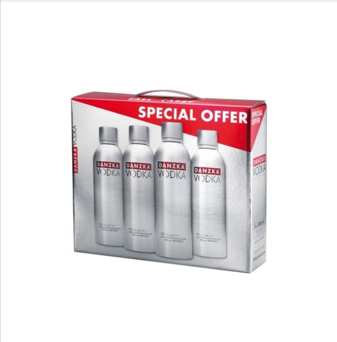 4x 1l Danzka Vodka - Original Premium - 40% Vol.