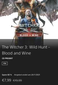 PlayStation Store - Witcher 3 Blood and Wine