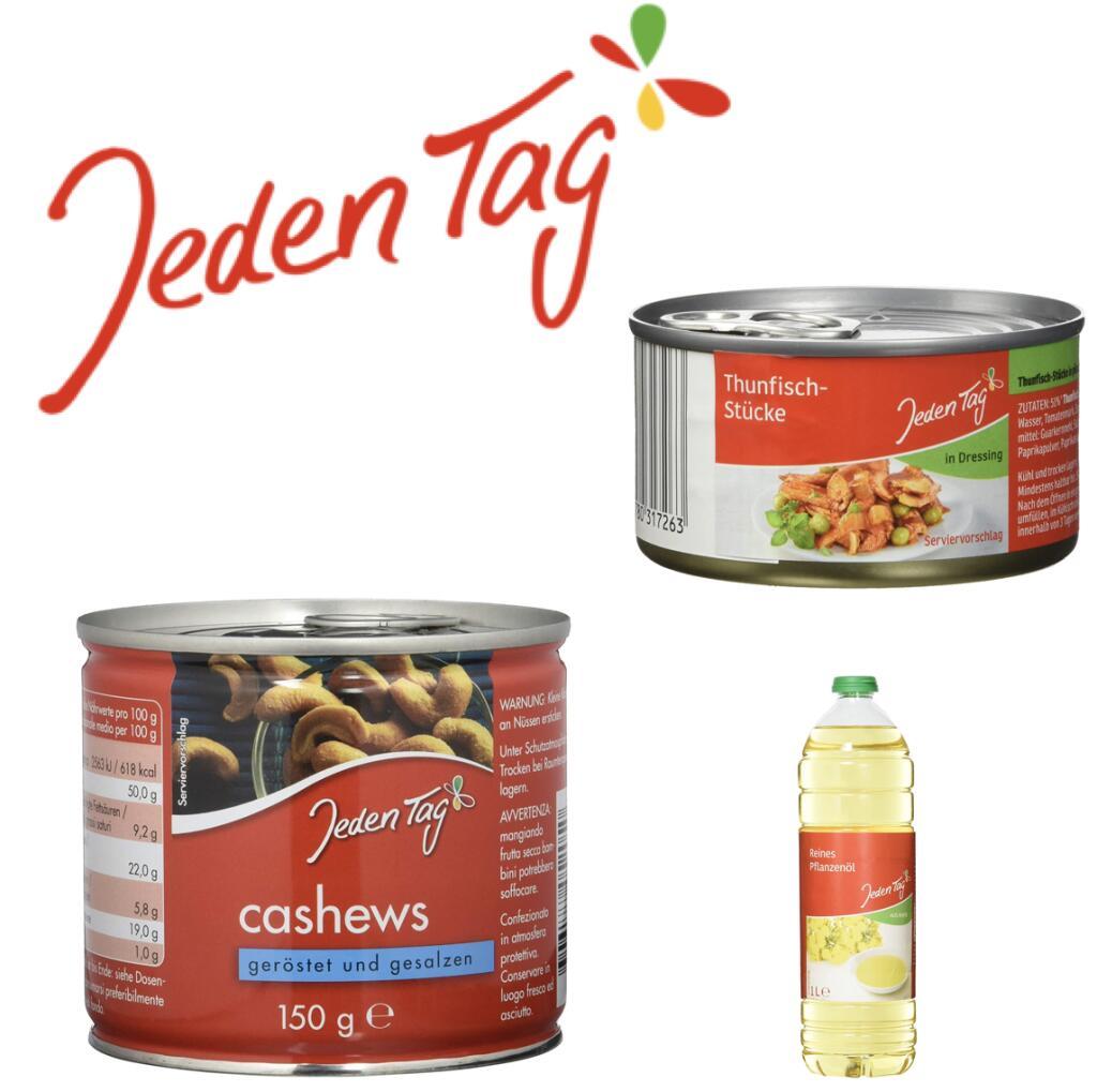 Jeden Tag Produkte 4 für 3 im Angebot: z.B. 4x Cashewkerne gesalzen, 150 g für 5,97€ (pro Dose 1,49€) [Amazon Prime]