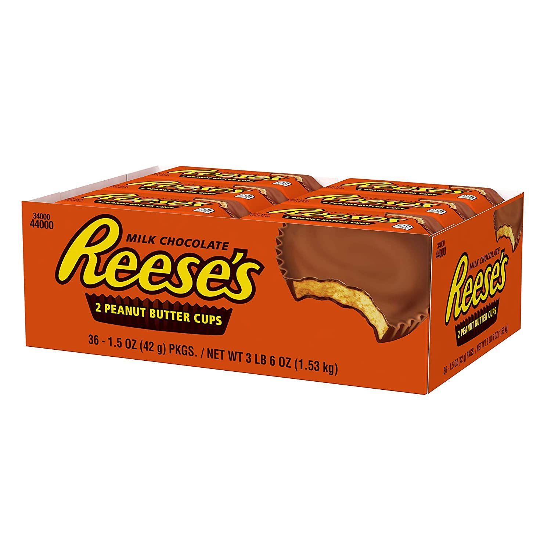 [Prime] Reese's Peanut Butter Cup Standard Bar - Erdnussbutter-Cup-Riegel standard: 36 x 42 g