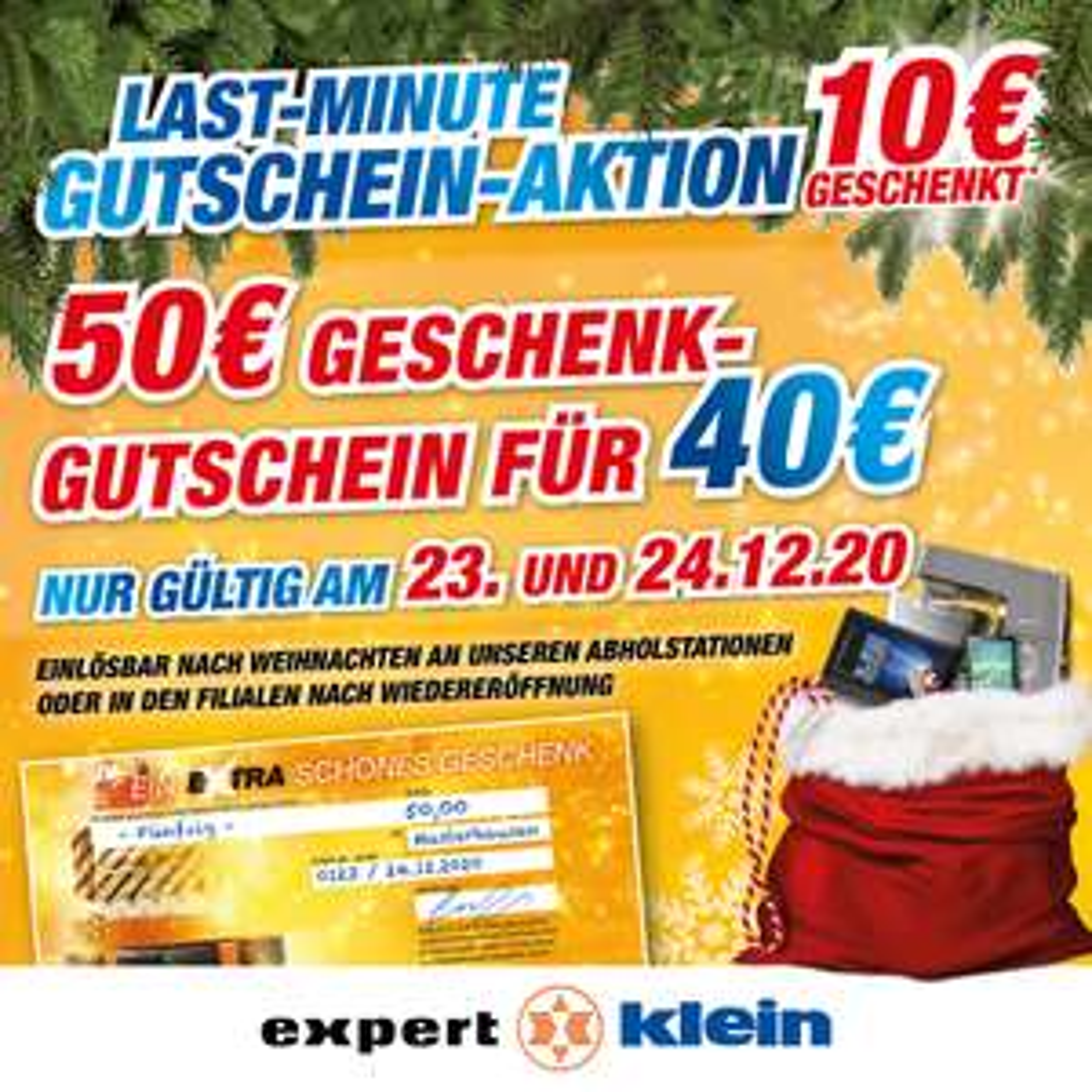 Expert Klein Gutschein Aktion 50 Euro für 40 Euro