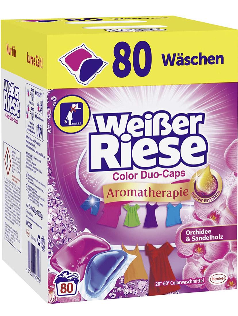 [Amazon Prime] Weißer Riese Color Duo-Caps Colorwaschmittel (80 Waschladungen)