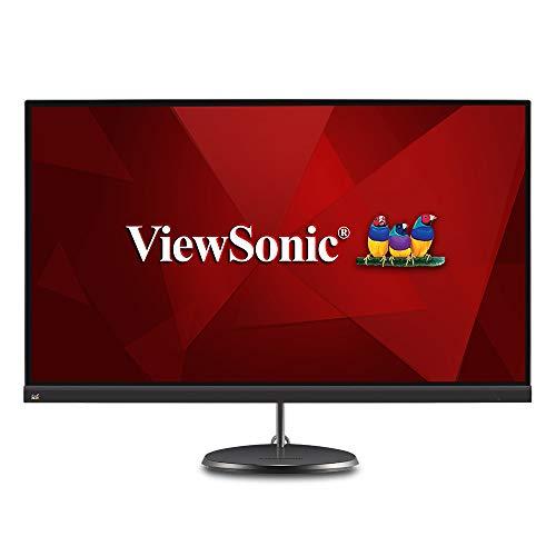 Viewsonic VX2785-2K-MHDU (27 Zoll) Design Monitor WQHD IPS-Panel FreeSync HDMI USB-C 3.2 inkl. Ladefunktion Lautsprecher Schwarz Homeoffice