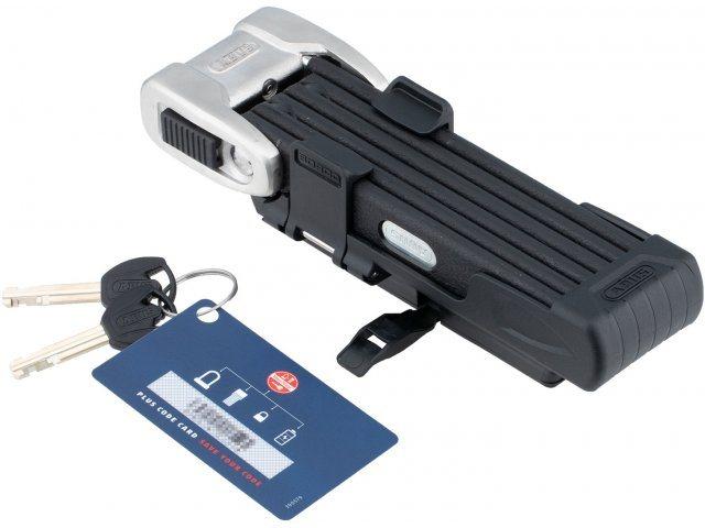 ABUS Faltschloss Bordo Centium 6010/90 mit Halterung + Sicherheitslevel 10 + 90 cm silber/schwarz