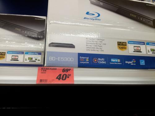 [Lokal Toom Echterdingen bei Stuttgart ] Samsung  BD-E5300 BluRay Player NEU Noch ca . 7 Stück