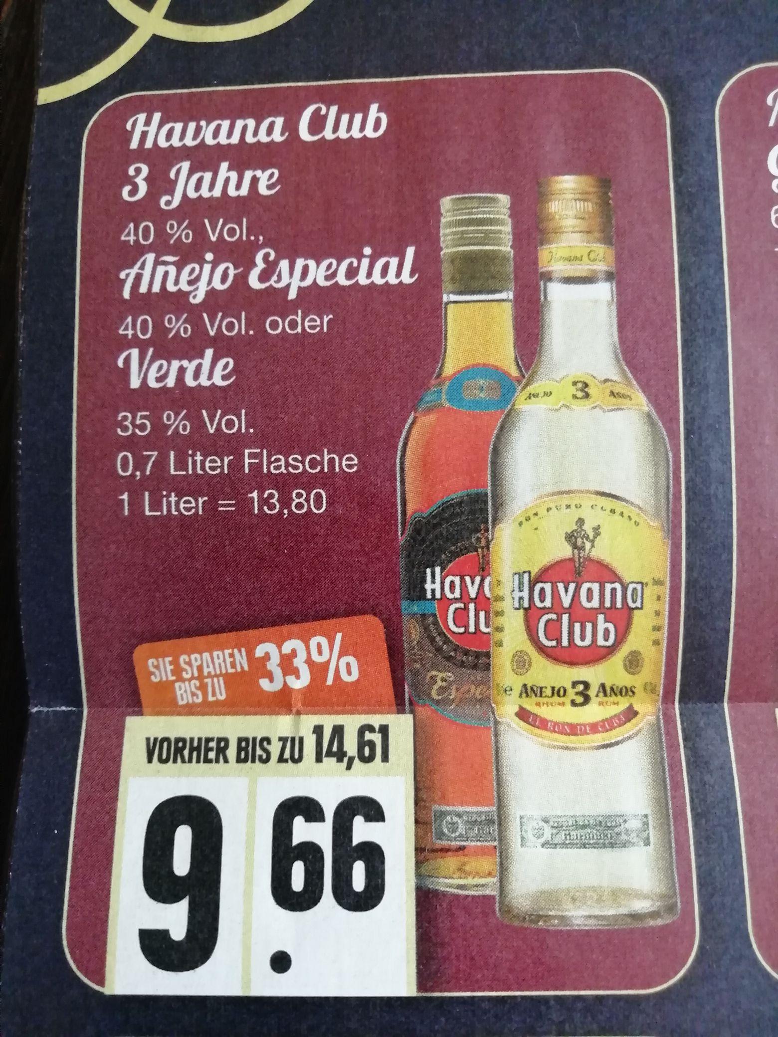 [EDEKA Nord] Havana Club 3 Jahre, Anejo Especial und Verde 0,7l