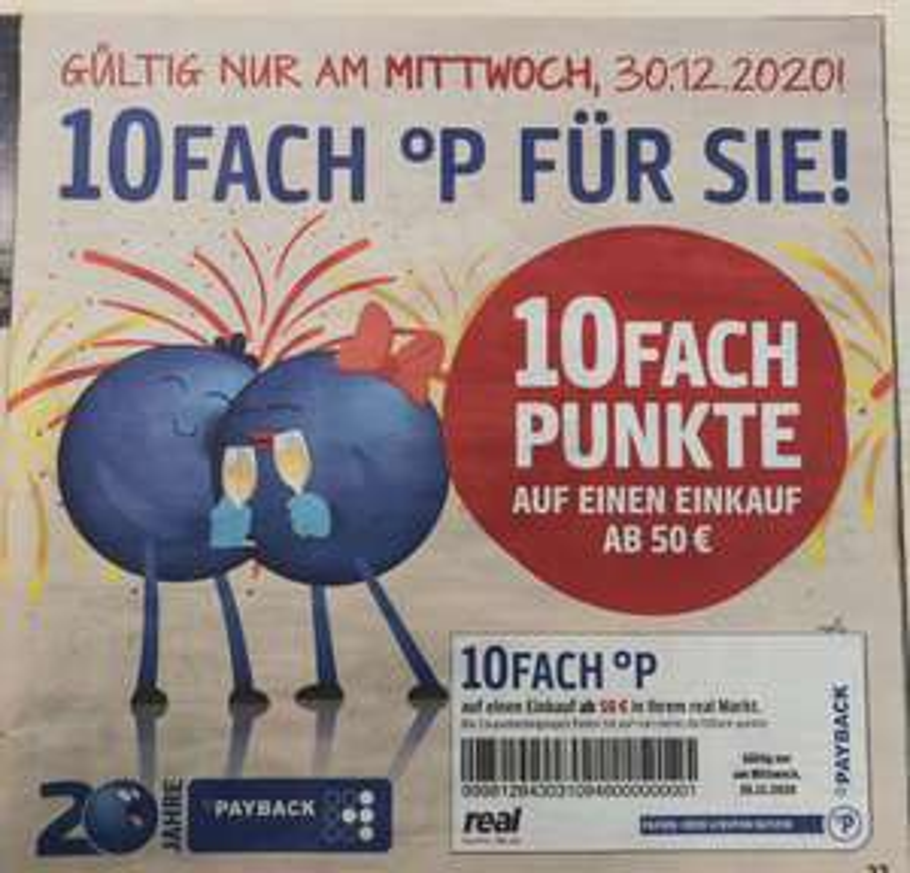 Real - 10fach PayBack-Punkte ab 50 Euro Einkauf