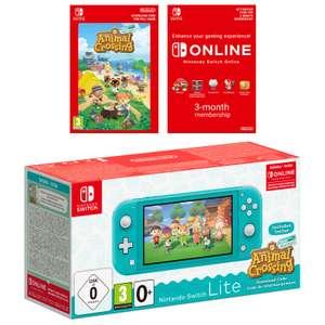 NINTENDO Switch Lite inkl. Animal Crossing und 3 Monate Switch Online Mitgliedschaft Türkis o. Koralle für 202,92€ inkl. Versandkosten